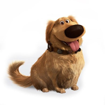 the dog Dug from the movie up pixar disney