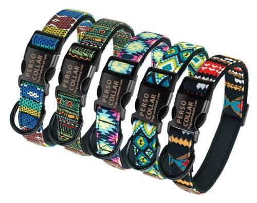 hawaii dog collar with engraving all colors