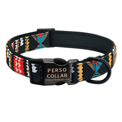 hawaii dog collar with engraving red color