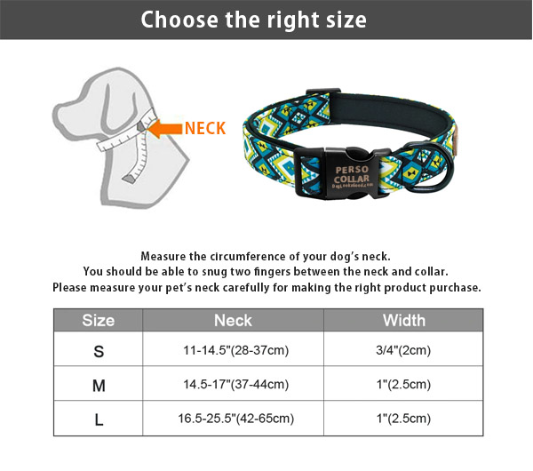 hawaii dog collar with engraving choose the right size table