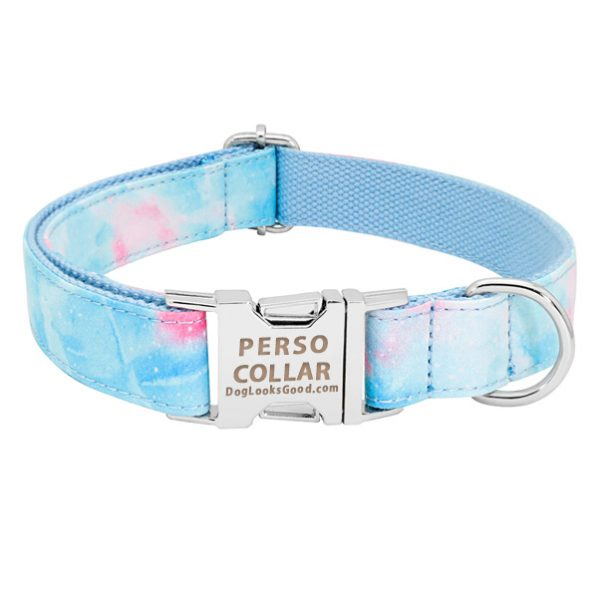 personalized collar light blue