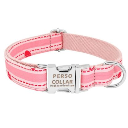 personalized collar light pink