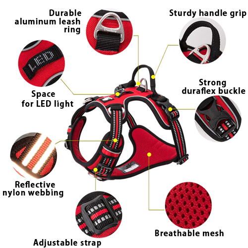 Diesel dog harness features