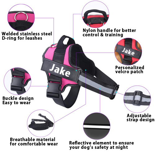 Jake dog harness features
