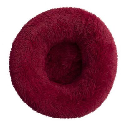 Dog cloud bed red