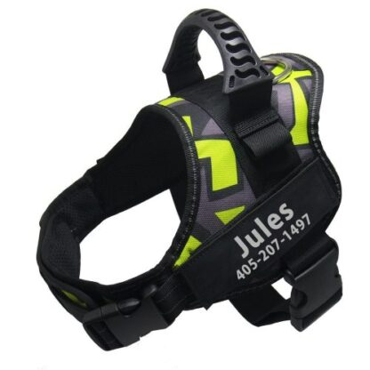 Jules dog harness no pull julius k9 neon green camouflage color