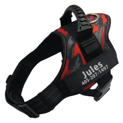 Jules dog harness no pull julius k9 red camouflage color