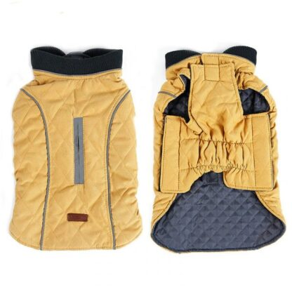 Stella coat for dog yellow color photo